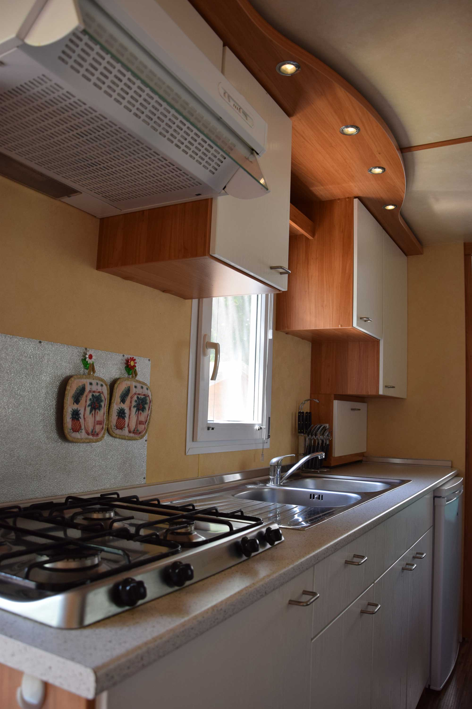 Cucina Mobilhome Camping Le Fonti Agliano Terme