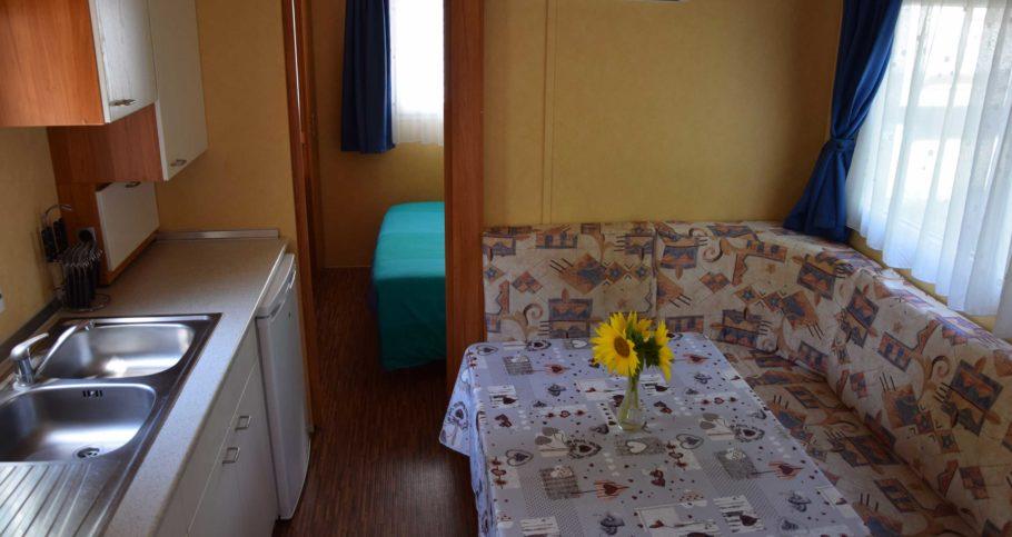 Living e Cucina Mobilhome Camping Le Fonti Agliano Terme